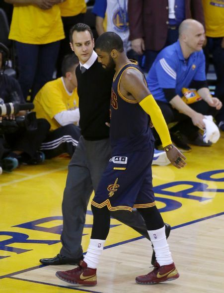 Kyrie Irving injured in game 1